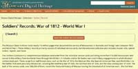 MissouriDigitalHeritageSoldiersRecordsWarof1812WorldWarI