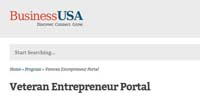 BusinessUSA Veteran Entrepreneur Portal